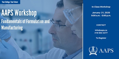 Fundamentals of Formulation and Manufacturing tickets