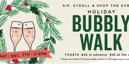 Downtown Willow Glen Holiday Bubbly Walk 2019