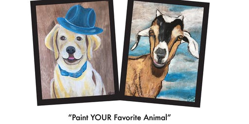 "Le Paint - Dip, Dab, Drink! ""Paint Your Favorite Animal"""