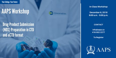 Drug Product Submission (NDS) Preparation in CTD and eCTD format tickets