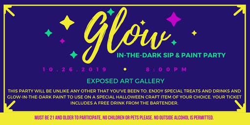 Glow-in-the-Dark Sip & Paint Party