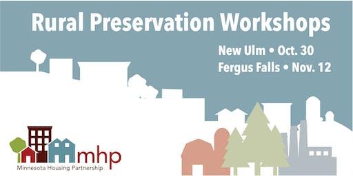 Preservation Workshop: Preserving Community Assets in Rural Minnesota