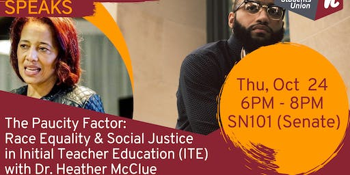 The Paucity Factor: Race Equality & Social Justice  in Initial Teacher Education (ITE) - with Heather McClue