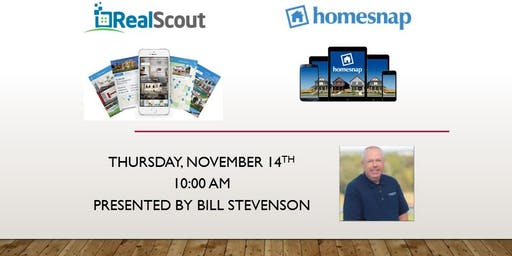 RealScout and homesnap by Bill Stevenson