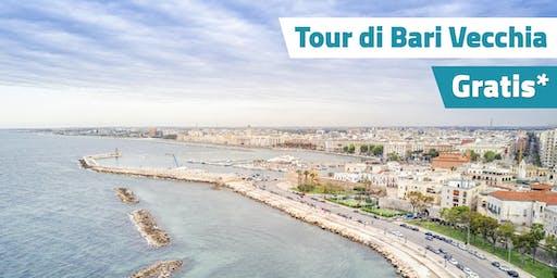 Tour gratuito di Bari: Una guida ti condurrà tra i vicoli del borgo antico.