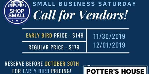 Small Business Saturday Early Bird Vendors Two-Day Tabling