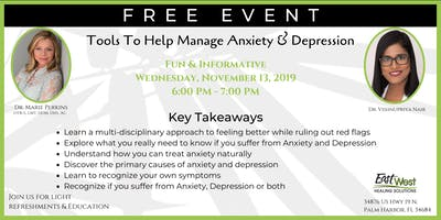 Tools To Help Manage Anxiety & Depression