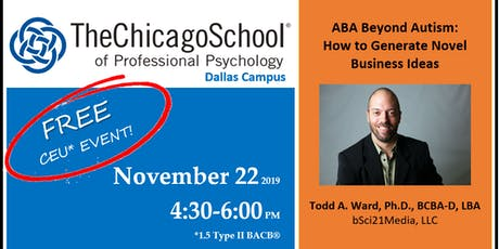 ABA Beyond Autism - How to Generate Novel Business Ideas tickets