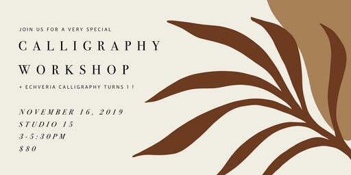 Fall Calligraphy Workshop