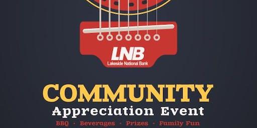 Lakeside Bank Customer Appreciation Event