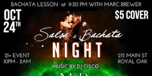 Salsa & Bachata night  at Mr. B's in Royal Oak