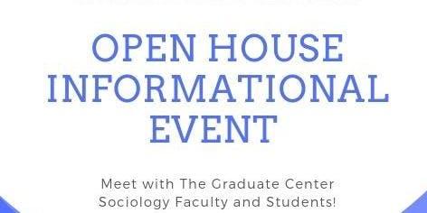 PROSPECTIVE SOCIOLOGY PHD STUDENTS OPEN HOUSE