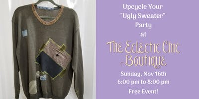 Upcycle Your Ugly Sweater Party