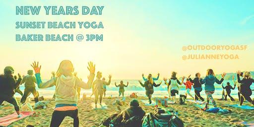 NEW YEARS DAY! [Silent Disco] Beach Yoga with Julianne Aiello