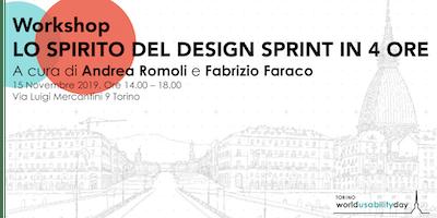 Wud Torino Workshop: Lo spirito del Design Sprint in 4 ore