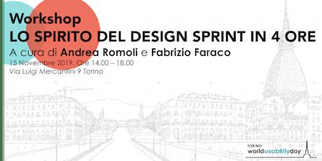 Wud Torino Workshop: Lo spirito del Design Sprint in 4 ore biglietti