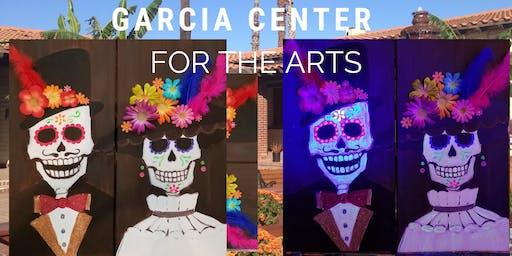 Dia De Los Muertos themed paint nite at the Garcia  Center!