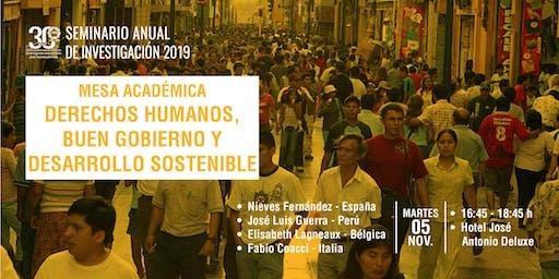Mesa Académica: Derechos Humanos, Buen Gobierno y Desarrollo Sostenible