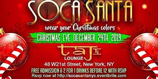 Soca Santa at Taj Nightclub