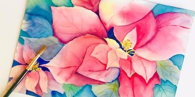 Poinsettia Watercolor Workshop