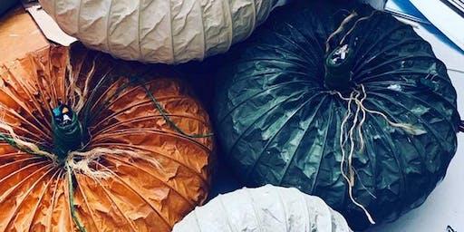 Dryer Vent Pumpkins ~ Make Two ~ BYOB