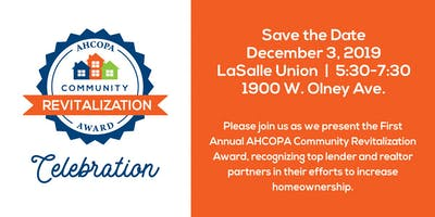 AHCOPA Community Revitalization Award Party