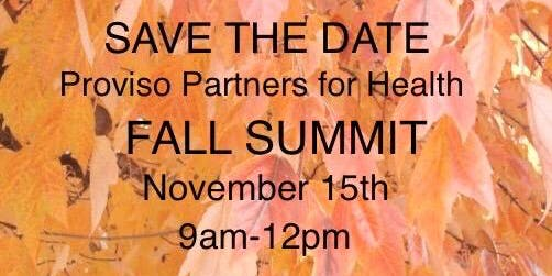 Proviso Partners for Health - Fall Summit
