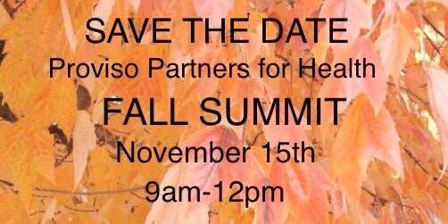 Proviso Partners for Health - Fall Summit