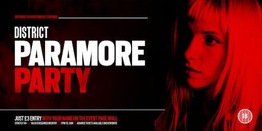 DISTRICT Southampton // Paramore Party // Saturday at Suburbia
