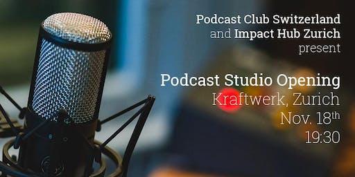 Podcast Studio Opening