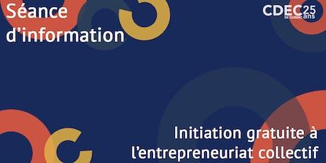 Initiation à l'entrepreneuriat collectif tickets