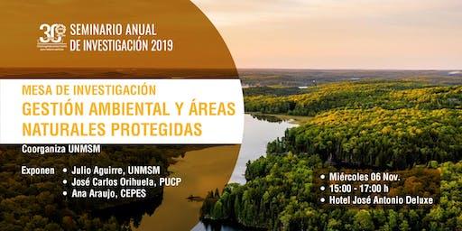 Mesa de Investigación: Gestión ambiental y áreas naturales protegidas
