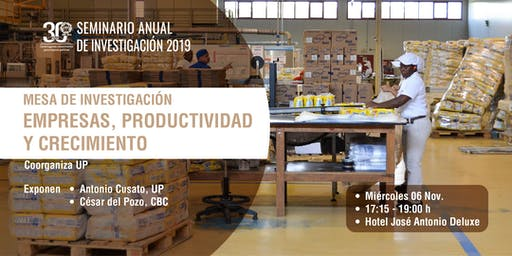 Mesa de Investigación: Empresas, productividad y crecimiento