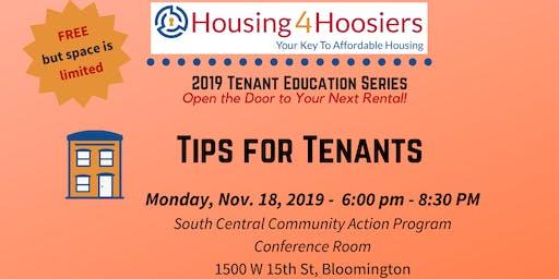 Fall 2019 Housing4Hoosiers Tenant Education Series