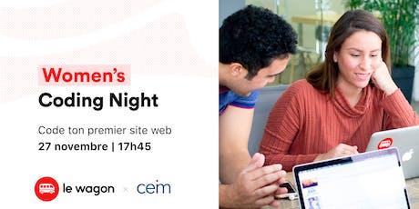 Le Wagon x CEIM: Women's Coding Night billets