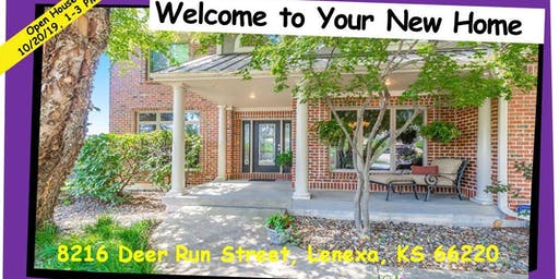 Open House Sun 10/20/19, 1PM-3PM - 8216 Deer Run St, Lenexa, KS 66220