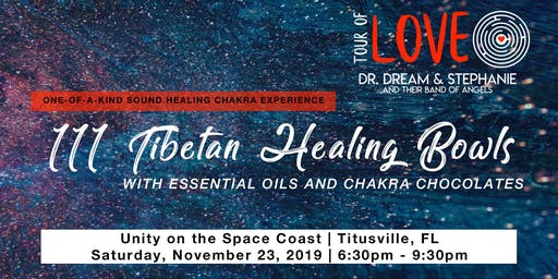 111 Healing Bowls, Essential Oils & Chocolate Experience, Space Coast, FL