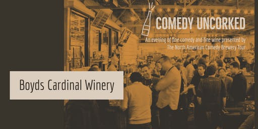 Comedy Uncorked at Boyds Cardinal Winery