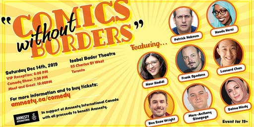 Comics without Borders/ Amnesty International Comedy Night!