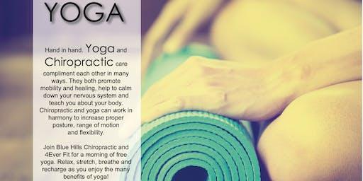 Blue Hills Chiropractic Yoga Class