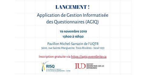 Lancement RISQ-IUD : Application de Gestion Informatisée des Questionnaires