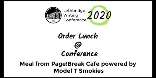 Lunch Order (WordBride Conference)