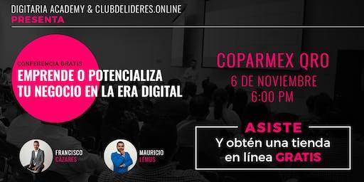 Emprende o potencializa tu negocio en la era digital (6 DE NOV)