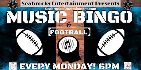 SEABROOKS' MONDAY MUSIC BINGO & FOOTBALL @BOATYARD EATS 6PM.FREE AND FUN!! tickets
