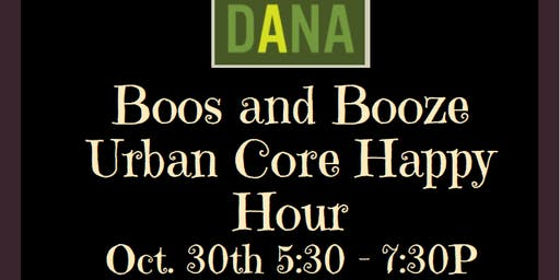 Boos and Booze Urban Core Happy Hour