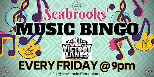 SEABROOKS COSMIC MUSIC BINGO @VICTORY LANES,MOORESVILLE,NC 9PM
