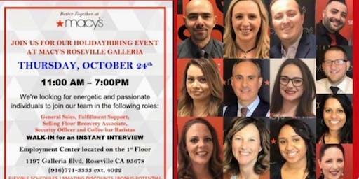 Macys Roseville Hiring Event