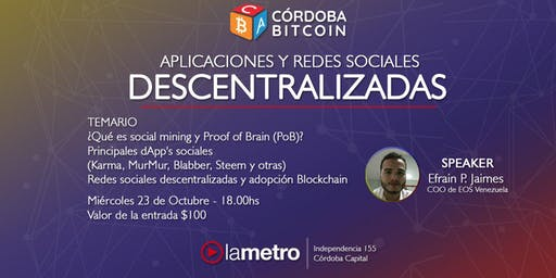 Workshop Córdoba Bitcoin
