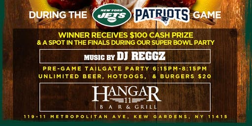 NY Jets vs Patriots Tailgate & Chicken Wing Eating Contest