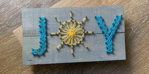 Lotus on Cedros Afternoon String Art Workshop